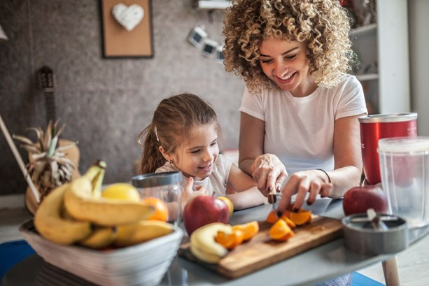 Mum and daughter making simple food swaps for a healthier lifestyle