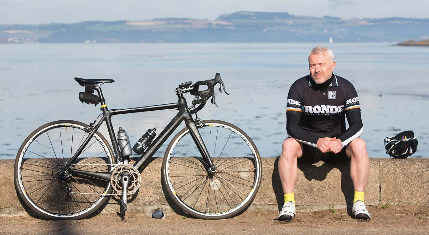 Widower Alan with road bike