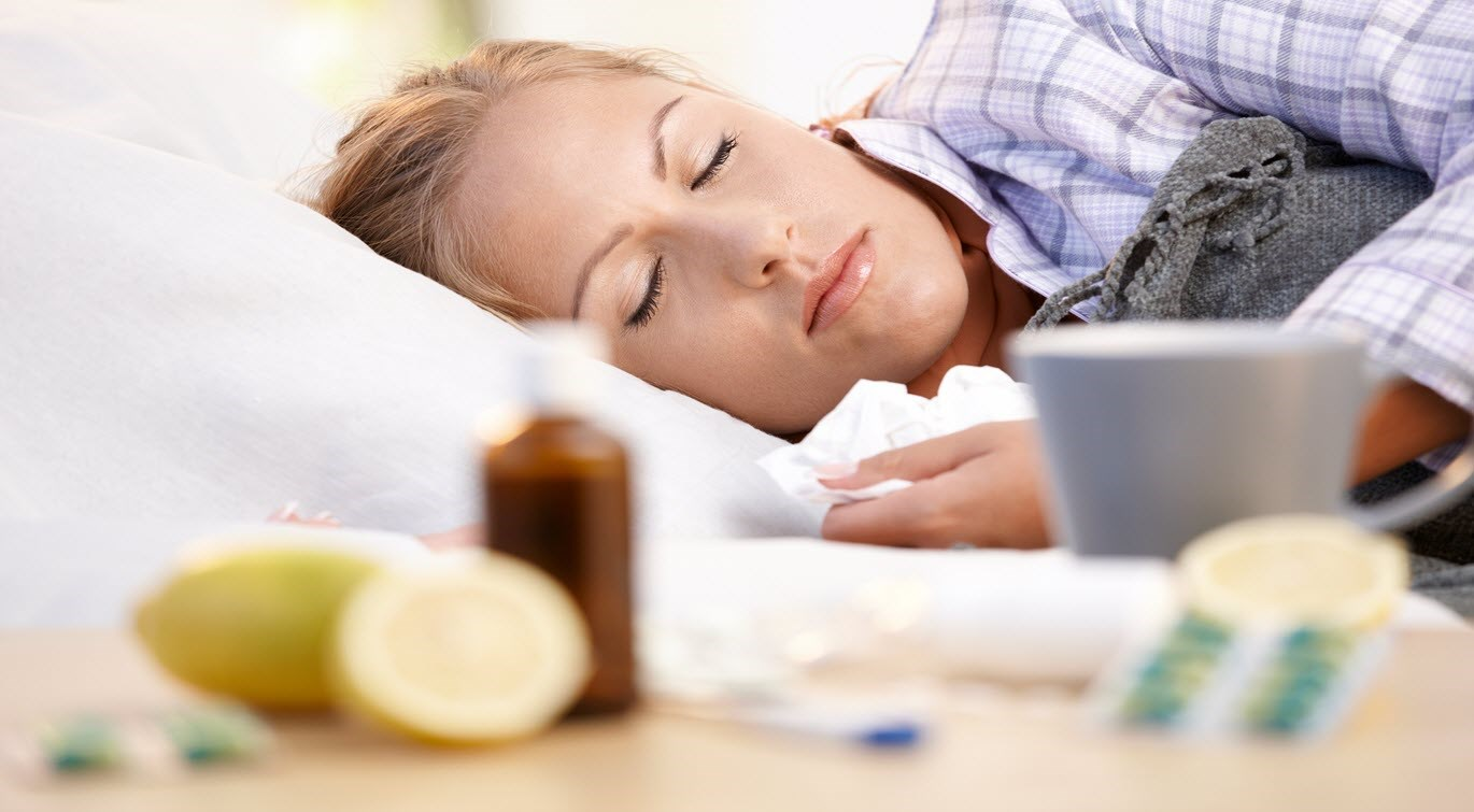 Woman resting. cold_flu remedies