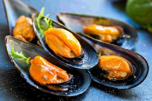 Mussels are also rich in iron; i increased concentration levels, maintains a healthy immune function.