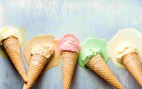 Sugary foods, such as ice-cream and sweets, send blood sugar levels spiking at first, which then crash whilst you are asleep