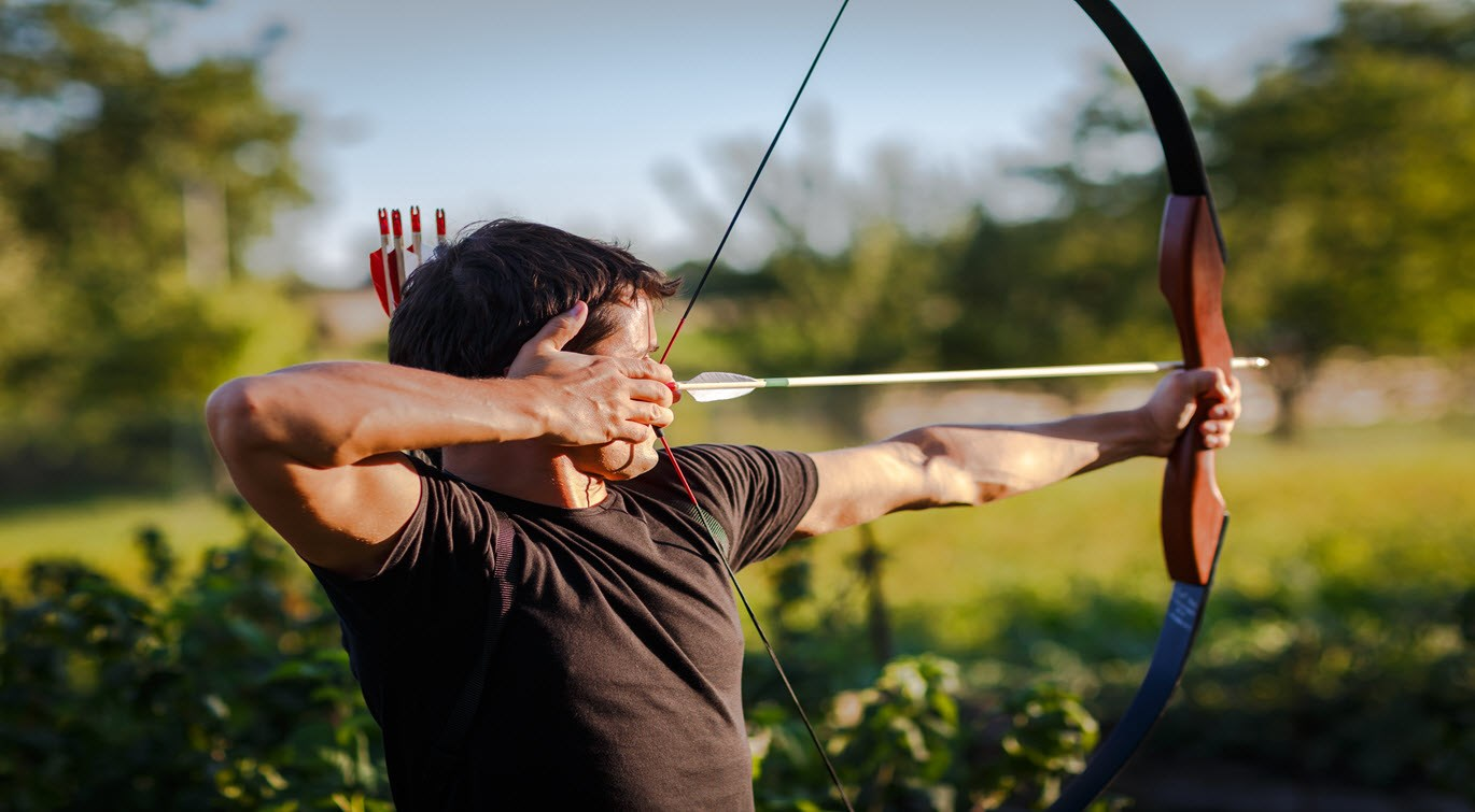 archer-with-bow-practising