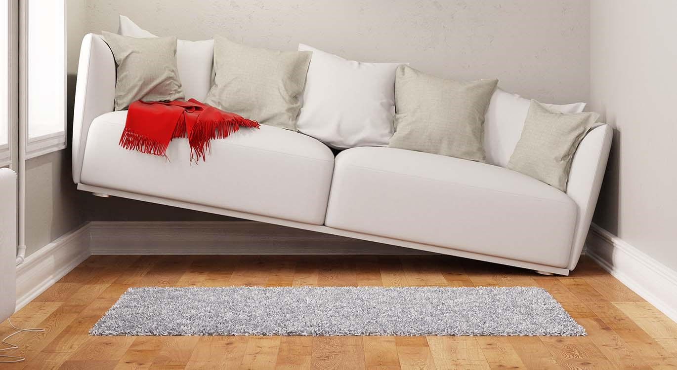 Image of sofa too big to fit in house