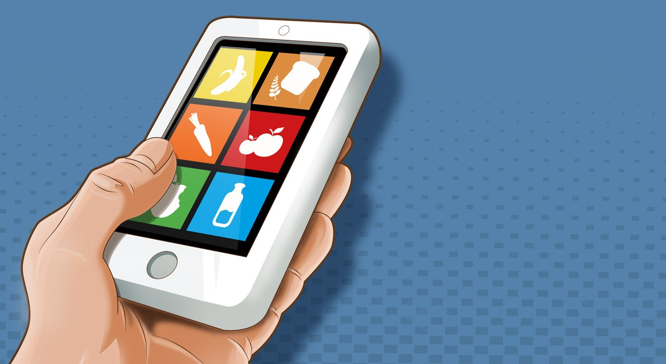 healthy eating apps on a mobile device