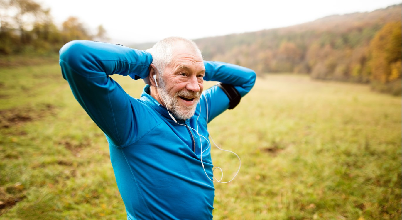 older man exercising, living a healthy lifestyle