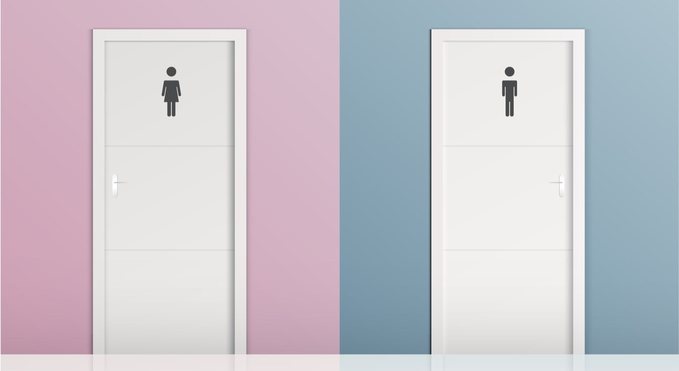 Male and female toilets - urology problems