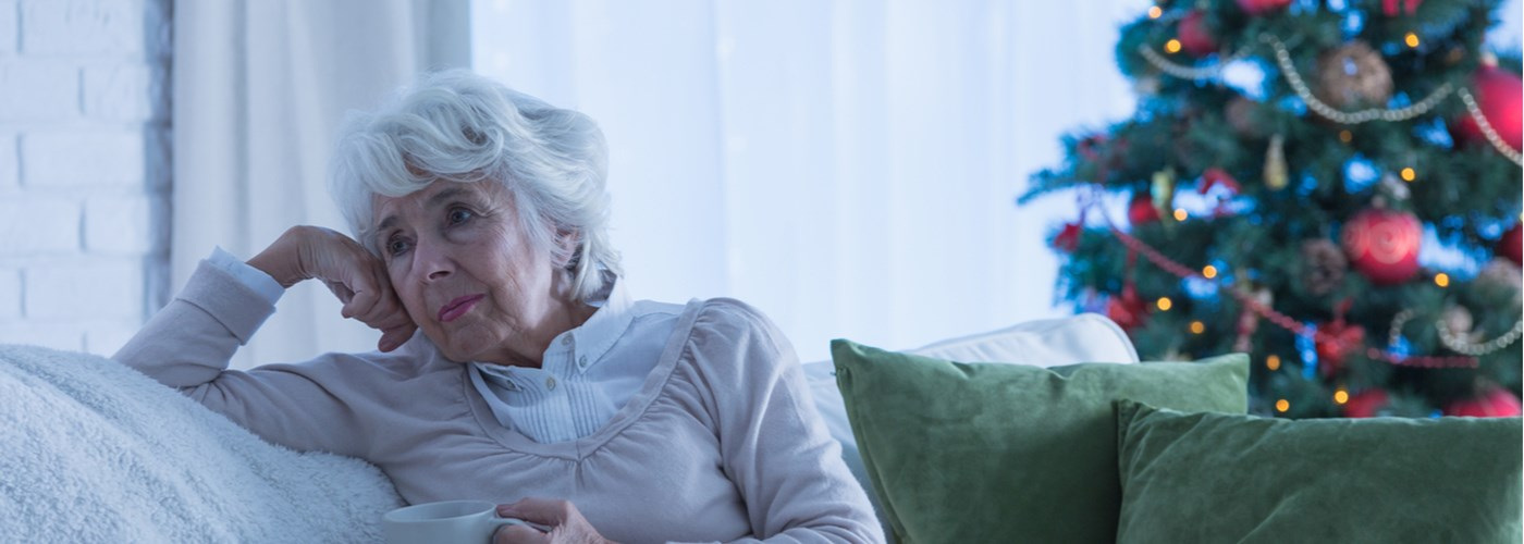 elderly woman feeling lonely