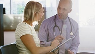 Doctor discussing with patient